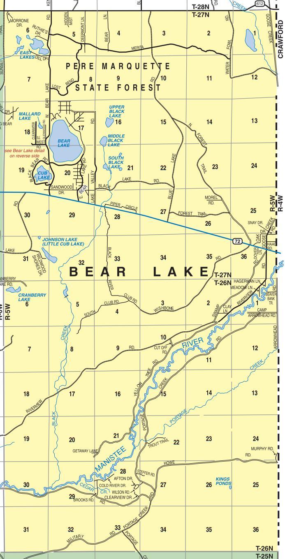 Bear Lake Township Map